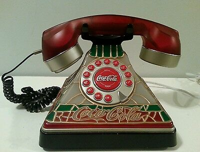 Vintage COCA COLA TIFFANY STYLE PUSH BUTTON TELEPHONE