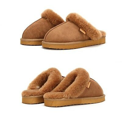 AUSTRALIAN SHEEPSKIN MOCCASIN NAPPA SLIPPERS GENUINE For Women