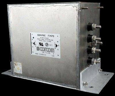 Corcom/TE Connectivity 60AYP6C EMI/RFI Power Line Filter 3-Phase 60A 440VAC