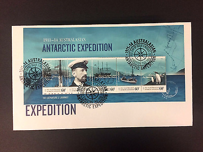2011 AAT Antarctic Expedition Minisheet FDC First Day Cover Stamps Australia