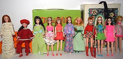 Vintage Topper Dawn & Her Friends Clone Doll Mixed Lot 11 Dolls 2 Cases! Lot #11