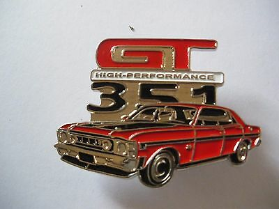 Ford GT 351 - Top Quality Lapel Pin Badge - biker car men's shed sports