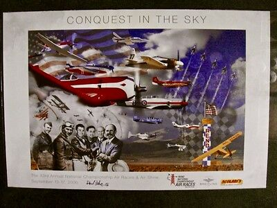 """2006 Signed Reno Air Race Poster, """"Conquest in the Sky"""" , signed by artist"""