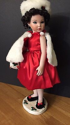 "Winter Splendor, Marie Osmond porcelain 15"" doll, Four Seasons"