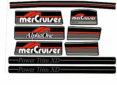 Mercruiser Most Complete Alpha 1 Gen 1  Decals W/gray Rams Sticker Set