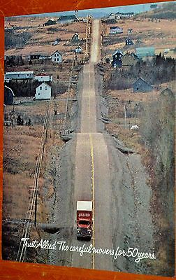 1981 Allied Van Lines Canadian Ad - Dodge Moving Truck In Countryside - Vintage