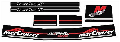 Mercruiser The  Complete Set Alpha One Gen.two Decals W/gray Rams Sticker Set