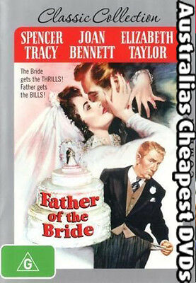 Father Of The Bride  DVD NEW, FREE POSTAGE WITHIN AUSTRALIA REGION 4