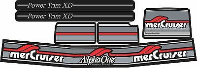 Mercruiser  Alpha One Gen.two Counter Rotation  Decals  W/ Gray Rams Sticker Set