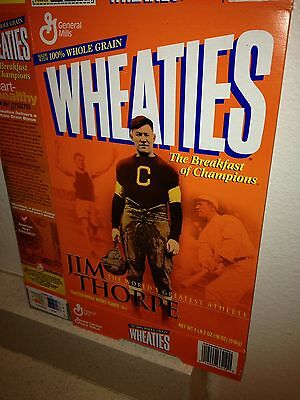 Jim Thorp The Worlds Greatest Athletes Wheaties Box: Empty