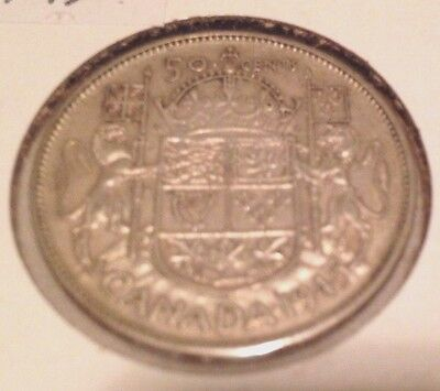 1945 silver Canadian 50 Cents