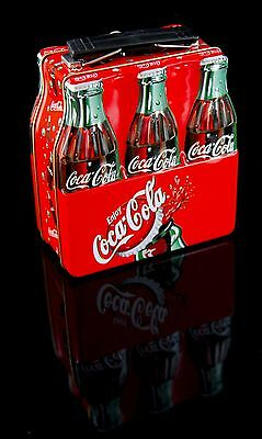 Miniature Coca Cola Bottle Lunch Box Advertisement or Carrying Case Tin
