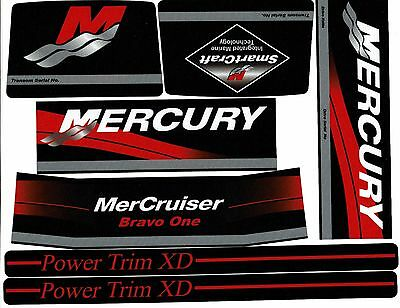 Mercruiser  Bravo One Decals  With / Red Rams Sticker Set