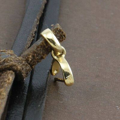 Genuine Solid 18CT Yellow Gold Jade Clip Bail