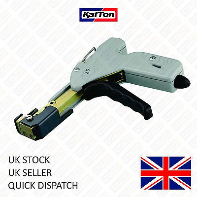 Automatic Stainless Steel Cable Tie Tensioner and Cutter Up to 7.9mm Ties Gun