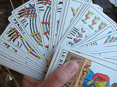 Vintage 1965-1970 Tarot Cards 1Jj Ag Muller Swiss Made Complete 78 Card Boxed