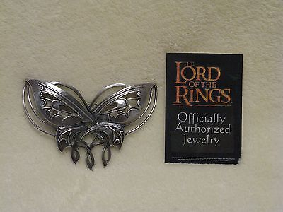 Lord of the Rings 'Arwen Butterfly Brooch' Noble Collection 1st Ed Rare Silver