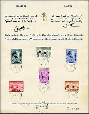 Be023. Belgium Special Commemorative Sheet 1940 Musical Chapel Fund