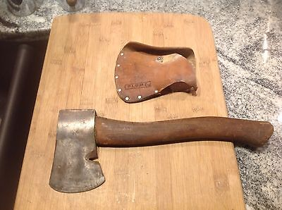 Vintage Genuine Plumb OFFICIAL BOY SCOUTS HATCHET AXE w LOGO  WITH SHEATH