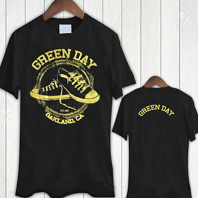 New Rare Green Day GREEN OAKLAND Tour Dates Black T-Shirt Tees Size S-5XL