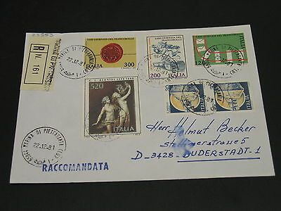 Italy 1981 registered cover to Germany *23553
