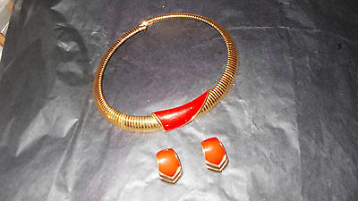 MONET vintage necklace and earrings