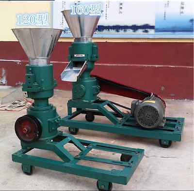 3KW 120 Model Pellet Mill Machine, Feed Pellet Mill Machine With Motor E