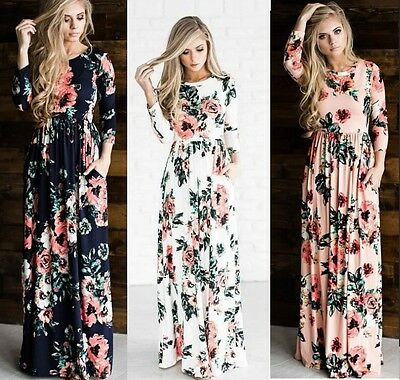 MAXI Dress,holiday resort wear,suitable Maternity,Maternity Dress Floral Long