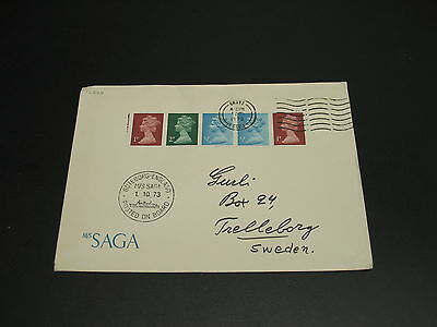 UK 1973 ship mail cover to Sweden *17746