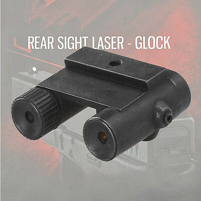 Tactical Steel Rear Sight Laser Red Dot Hunting Sight for All Pistol Glock