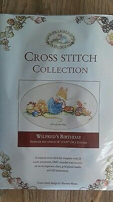 NEW Brambly Hedge counted cross stitch kit WILFREDS BIRTHDAY.....Free Postage!!