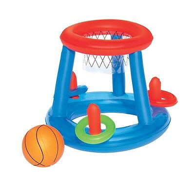 Bestway 52190 Game Center Schwimmendes Poolspiel Basketball Ringspiel Ø 61 cm