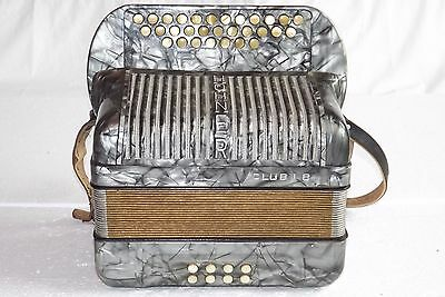 Button  accordion akkordeon harmonika HOHNER CLUD B II 8 bass C-F