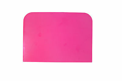 UK Made Pink Pastry Bread Dough Pizza Cake Decorating Baking Scraper. S7336