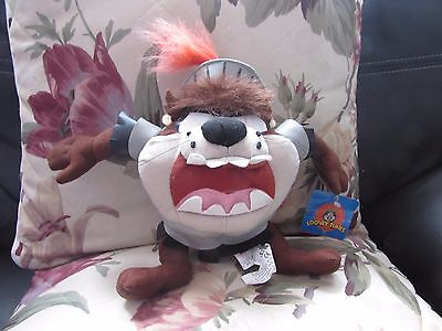 Soft Plush Tasmanian Devil [Taz] Toy In Armour Suit By Warner Bros Looney Tunes