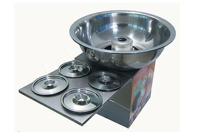 Fancy art stainless steel Commercial gas cotton candy machine  E