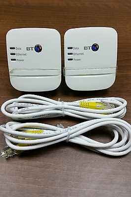 2 x BT Broadband Extender 600 Kit Powerline Adapters + 2 x Ethernet. ANY ISP