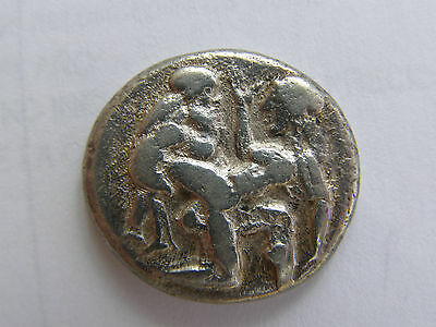 Thasos Island. Thrace. Amazing Silver Statera. 510-490 Bc.original