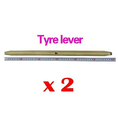 2 x 60 cm Tyre Lever Tool Tires Carbon Steel For Mini Bike Motorcycle Motorbike