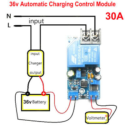 36v Battery Auto Charging Control Protection Board Automatic Charger Relay Board