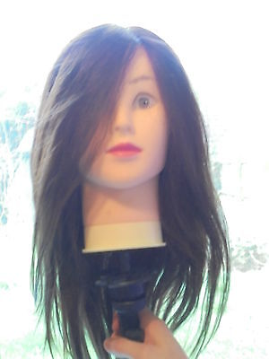 Hairdressers Training Mannequin Head+Clamp+Instructions Sheet