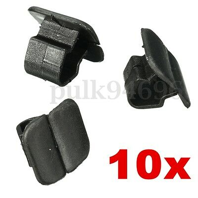 10x Bonnet Hood Insulation Plastic Clips- Retainer Fastener Black Clips For VW