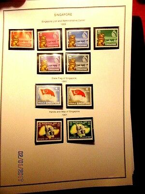 Singapore 2 vol. collection, mostly m&u cpl sets, f-vf, conservative cat 1600.+