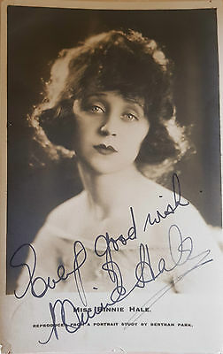 Edwardian Actress Miss Binnie Hale Signed Postcard
