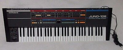 Vintage Analog Synthesizer Roland Juno 106 6 60 rare synth works beautifully