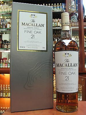Discontinued & Rare Macallan 21yo. Single Malt Scotch Whisky. 700ml - 43%