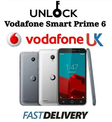 Vodafone UK Unlock code Smart Prime 6 895 VF-895N V895N 895N Network Unlocking