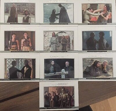 Game Of Thrones Season 6 Relationships 10 Card Chase Set DL31-DL40