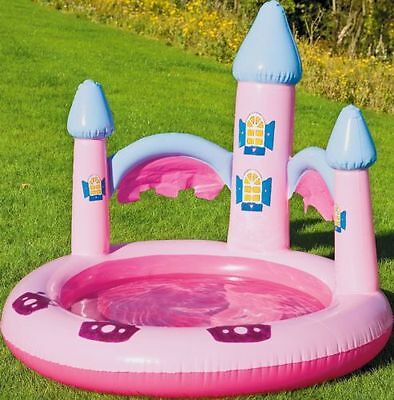 Inflatable Pink Princess Castle Ball Pit Or Paddling Pool