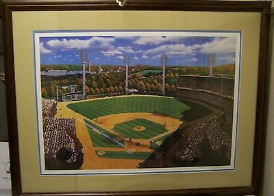 """""""Forbes Autumn Classic"""" prof framed lithograph. Pittsburgh Pirates World Series"""